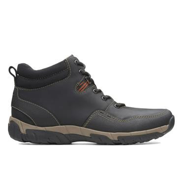 Clarks Walbeck Top II-Black Leather